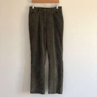 Vintage Northern Reflections Green Corduroy Pants