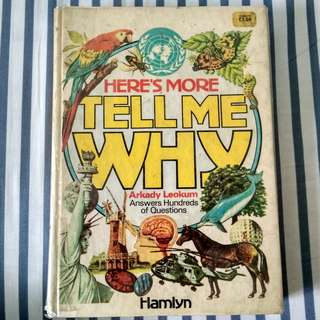 📖 Here's More Tell Me Why by Arkady Leokum (Vintage, Hardcover, Published 1978)