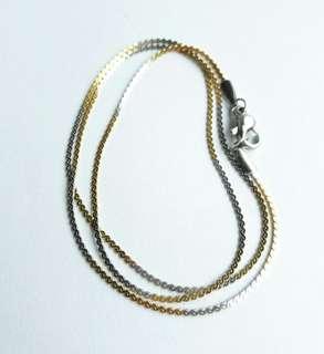 Silver gold chain