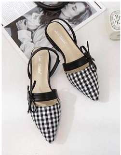 Gingham sandals size 35/36