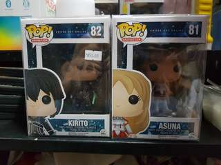 Sword Art Online funko pop set