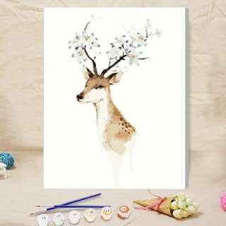 數字油畫-鹿 (包郵)