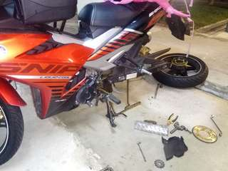 Onsite Bike Repair / Y15 / Yamaha sniper / chain rescue / islandwide