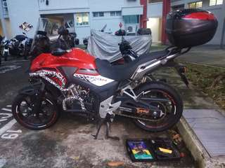 Yamaha NC400X / Onsite Bike Repair / Tyre Patching / Cacing / Mobile Mechanic