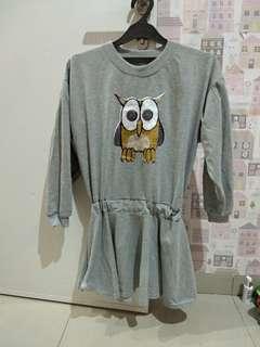Owl mini dress