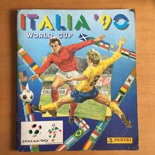 珍藏全齊 Panini World Cup 1990 意大利世界盃集圖冊
