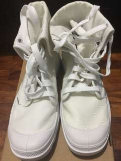 Palladium White Boots for Men size 9.5