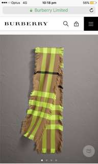 Authentic Burberry scarf brand new in packaging