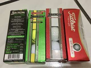 Bola golf srixon dan titliest per box