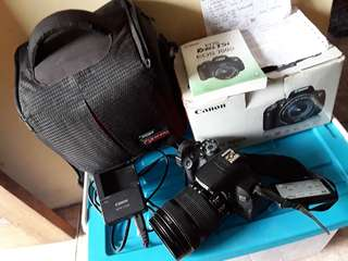 Camera DSLR Canon 700D kit 18-135mm (kit langka) mulus, Mantap!