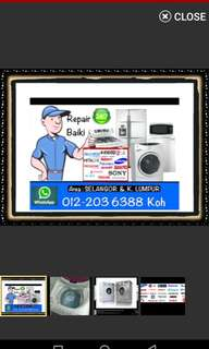 Repair Washing machine / Baiki Peti Ais Mesin basuh