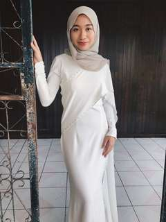 Ezuwan Ismail Paloma White Dress (Rent)