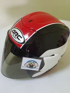 2606*** ARC AR1 TIARA RED with tinted visor Helmet For Sale 😁😁Thanks To All My Buyer Support 🐇🐇 Yamaha, Honda, Suzuki
