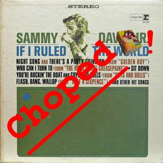 sammy davis Vinyl LP used, 12-inch, may or may not have fine scratches, but playable. NO REFUND. Collect Bedok or The ADELPHI.