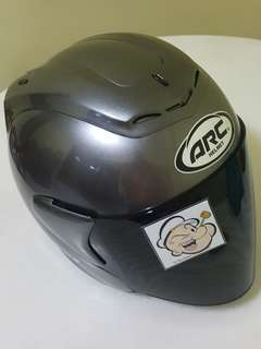 2606*** ARC RITZ Gloss GREY with Dark Black visor Helmet For Sale 😁😁Thanks To All My Buyer Support 🐇🐇 Yamaha, Honda, Suzuki