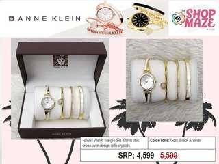 Anne Klein White&Gold