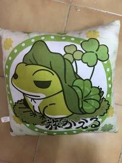 旅行青蛙 方型抱枕