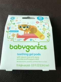 Babyganic teething pod gel