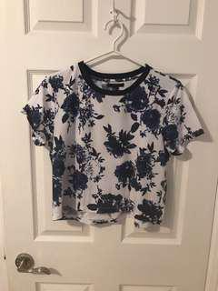 Forever 21 floral print t-shirt