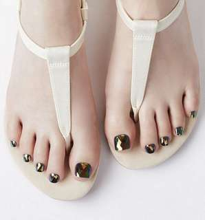 Dashing Diva Pedi Press On - Diamond Green