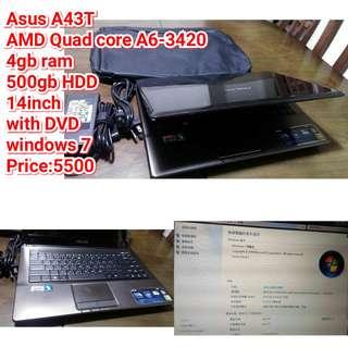 Asus A43T  AMD Quad core