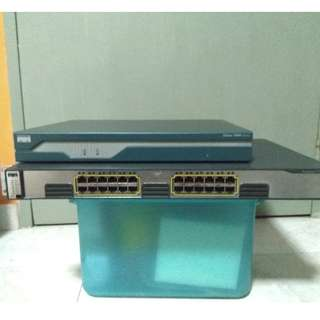 Cisco 3750 1G Switch and 1800 Router