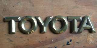 Toyota gold plated emblems