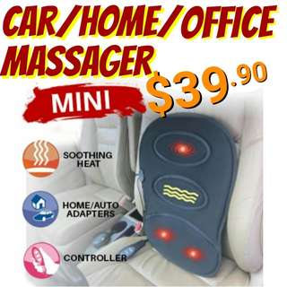 Car/Office/Home Mini Cushion Back Massager.  Usual Price : $69.90 Offer : $39.90. PM me to collect from Khatib Mrt.