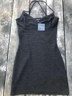 NWT TOPSHOP BLACK MID DRESS