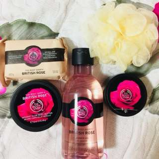 Body Shop British Rose gift set