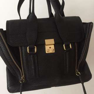 3.1 Phillip Lim medium black bag 真品