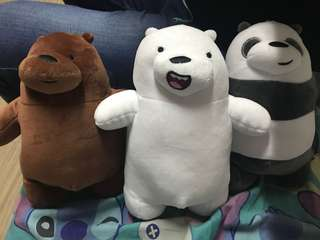 We bare bear plushies