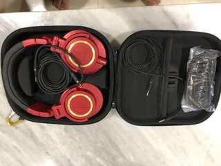 Headphone audio technica m50 spesial edisi + tas
