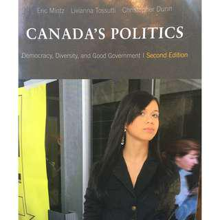 Canada's Politics: Democracy, Diversity, and Good Government. Second Edition