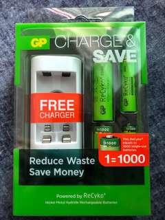 GP ReCyko+ 充電器及電池