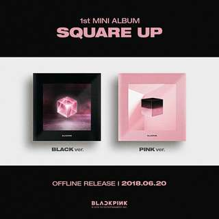 BLACKPINK FIRST MINI ALBUM SQUARE UP