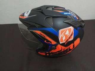 Helm double visor ukuran M