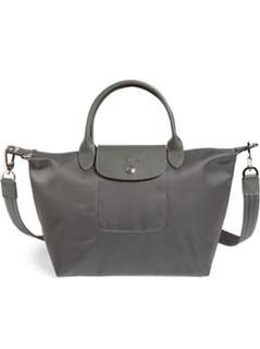 Longchamp NEO Strap Bag (Grey)