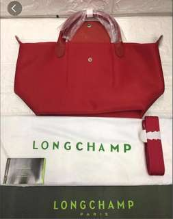 Longchamp NEO Strap Bag (Red)