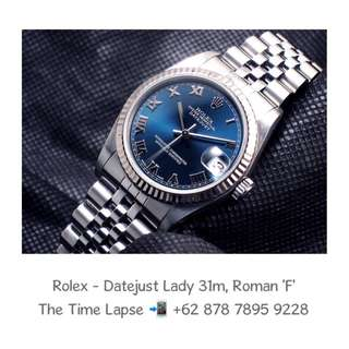Rolex - Datejust Lady 31m, Roman Blue Dial Stainless Steel 'F'