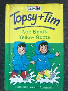 Topsy and Tim Red boots Yellow boots