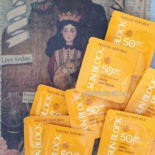 Nature Republic California Aloe Daily Sunblock SPF50 (10 sachets)