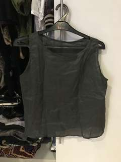 [NEW] Green Tank Top, No Brand