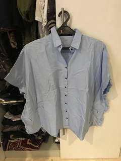 [PRELOVED] ZARA Blue Shirt
