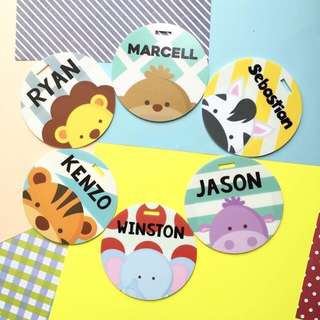 CUSTOM BAG TAG - cute animal