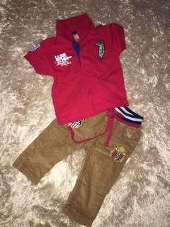 Polo Shirt + corduroy pant