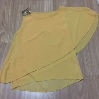 YELLOW ONE SHOULDER