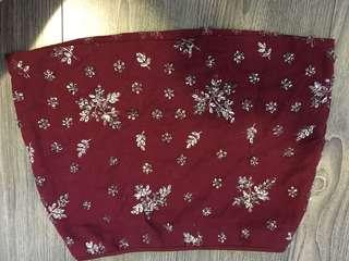 Jewelled Red Skirt Zara