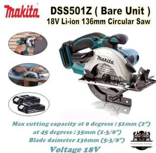 "[NEW] MAKITA DSS501Z 7"" CORDLESS 18V CIRCULAR SAW"
