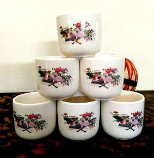 Japanese Tea cups 6x